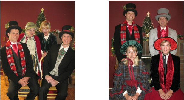 Christmas Caroling Costume.The Lil Dickens Carolers Hire The Best